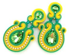 Items similar to Christmas gift for wife - Christmas gift for girlfriend - Soutache earrings - Anniversary gift for wife wholesale jewelry wholesale earrings on Etsy Soutache Earrings, Diy Earrings, Clip On Earrings, Statement Earrings, Earrings Handmade, Anniversary Gifts For Wife, Christmas Gifts For Girlfriend, Fabric Jewelry, Czech Glass Beads