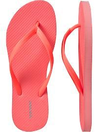 Pink, light beige, or coral Women's Classic Flip-Flops then embellish with some beachy findings at craft store
