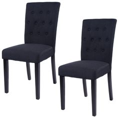 Giantex Set of 2 Fabric Dining Chair Home Kitchen Armless Chair Modern Dining Room Living Room Furni - ICON2 Luxury Designer Fixures #Giantex #Set #of #2 #Fabric #Dining #Chair #Home #Kitchen #Armless #Chair #Modern #Dining #Room #Living #Room #Furni