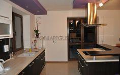 Mobila la comanda pentru bucatarie Lilas Kitchen, Table, Furniture, Home Decor, Cooking, Decoration Home, Room Decor, Kitchens, Tables