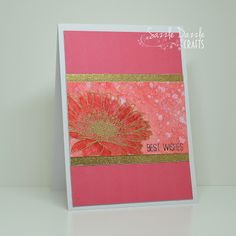 Hi friends I've 2 cards to share with you today and first up I couldn't resist entering a second card over at Inkspirational - what a. Studio Cards, Gerber Daisies, Gerbera, Distress Ink, Clear Stamps, I Card, Stamping, Florals, Grunge