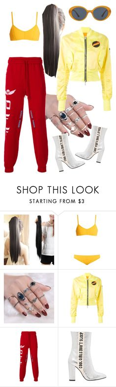 """""""1 Don't Pick Up The Phone You Know He's Always Calling When He's Drunk And Alone"""" by jarayagiel ❤ liked on Polyvore featuring Lisa Marie Fernandez, Unravel, Off-White, Havva and Oliver Peoples"""
