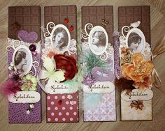 Sjokoladekort Scrapbooking, Gift Wrapping, Tutorials, 3d, Children, Cards, Gifts, Handmade, Design