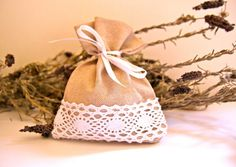 Rustic Linen Wedding Favor Bags Set of 100 Bags by KuKuuGifts