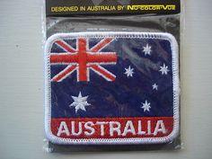 SOUVENIR CLOTH PATCH AUSTRALIAN FLAG