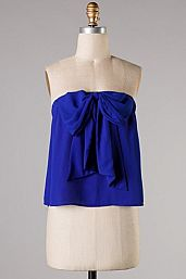 Bow Richly Royal top : Cousin Couture