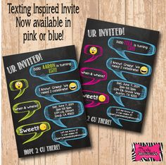 Are you planning a teen birthday party soon? If so, this is the invitation for you!!! This invite is also available for girls!  This listing is