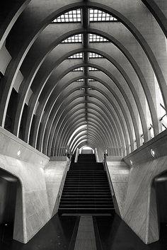 Les Guillemins, Liege, Belgium designed by Santiago Calatrava