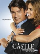 Castle Season 5 Poster Castle primarily traces the lives of Richard Castle (Nathan Fillion), a best-selling mystery novelist, and NYPD Detective Kate Beckett (Stana Katic) as they solve various unusual crimes in New York City. Castle Beckett, Tv Castle, Watch Castle, Castle 2009, Castle Tv Series, Castle Tv Shows, Richard Castle, Nathan Fillion, Stana Katic