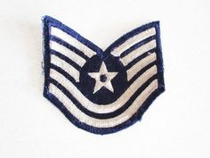 Air Force Patch from WWII Star 5 Stripes Vintage Military