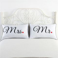 Dress up your room with these beautiful pillow covers!! Perfect the King and Queen of the household. You won't find these in stores so get them today.