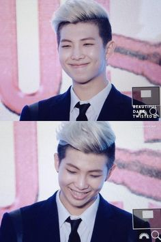 Smile to die for!! Baby boy Namjoon ^-^ aka Rap Monster    BTS