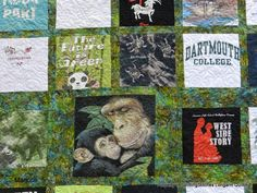 Very cool t-shirt quilt from Marjorie.