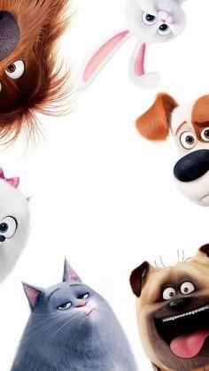 The Secret Life of Pets Phone Wallpaper - Tiere - Cartoon Wallpaper Iphone, Disney Phone Wallpaper, Iphone Background Wallpaper, Cute Cartoon Wallpapers, Movie Wallpapers, Frozen Wallpaper, Cellphone Wallpaper, Disney Kunst, Disney Art