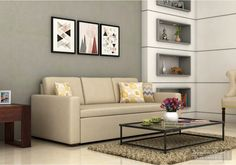 Kirsten Fabric Sofa Bed Ivory Look Online In India