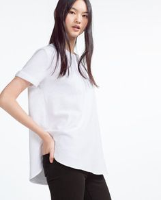 Image 2 of TOP WITH SIDE SLITS from Zara