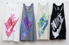 Nike singlets - love the colours. Different colour for different training days.