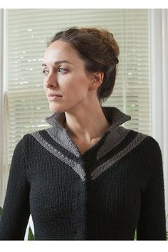 Chevron Coat Pattern - Knitting Patterns and Crochet Patterns from KnitPicks.com by Kerin Dimeler- Laurence