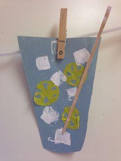 Lemonade construction paper paint arts and craft