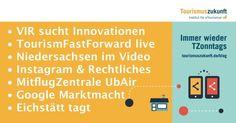 Immer wieder TZonntags 19.4.2015: Innovationen gesucht, UbAir, Marktmacht Google, TourismFastForward Live, Tagung in Eichstätt, Videos im Tourismusmarketing » Tourismuszukunft: Institut für eTourismus