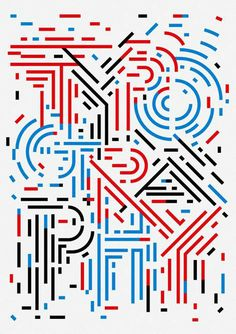 Typography poster by Sasaki Shun