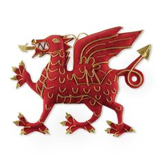 Welsh Christmas--The Red Dragon ornament | Scottish, Irish, NZ & Welsh Christmas decorations | The Scottish Shop