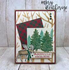 Stampin' Up! Merry Moose and Plaid Sneak Peek Christmas Box Frames, Christmas Moose, Christmas Catalogs, Fall Cards, Christmas Cards, Christmas 2019, Holiday Cards, Making Greeting Cards, Noel