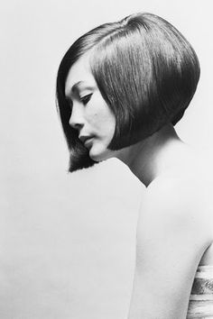 October 1963 issue of British Vogue. That's actress Nancy Kwon with a Sassoon bob.