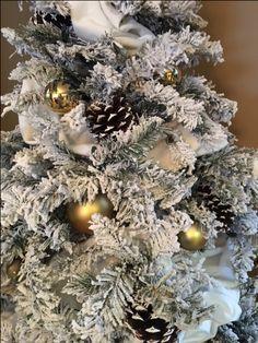 Snowy white christmas tree