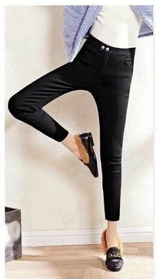 5cd9315a181f42 Womens High Slim Pants With Polyester Inner #fashion #clothing #shoes  #accessories #