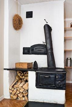 Swedish vedspis - range cooker.