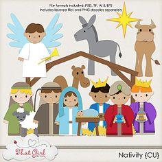 sweet nativity scrap stuff!