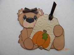 bear paper piece w tag