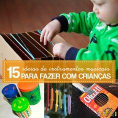 Que tal se divertir com ideias para fazerinstrumentos musicais com as crianças? Você vai ver que provavelmente tem em casa um monte de material que pode ser usado para fazer da música uma ótima brincadeira.