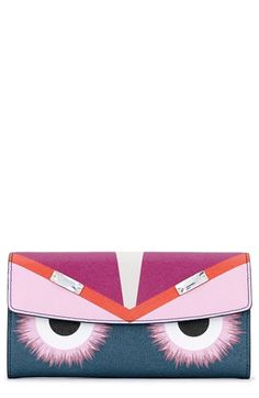 Fendi+'Monster'+Leather+Continental+Wallet+available+at+#Nordstrom