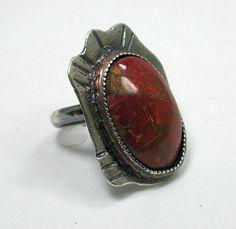Cherry Creek Jasper Sterling Silver Ring by SilverSeahorseDesign