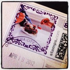 Use a special image from your engagement session for Invitation Envelope Stamps.  Sweet!