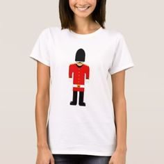 British Soldier Ladies Tee - red gifts color style cyo diy personalize unique