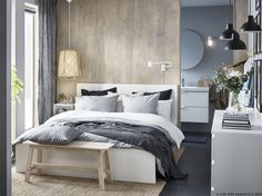 IKEA furniture and home accessories are practical, well designed and affordable. Here you can find your local IKEA website and more about the IKEA business idea. Stylish Bedroom, Cozy Bedroom, Master Bedroom, Modern Bedroom, Bedroom Classic, Scandinavian Bedroom, Girls Bedroom, Diy Home Decor Bedroom, Bedroom Furniture
