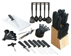 Purchase Gibson Flare 41 pc Cutlery Combo Set from Gelato Gadgets on OpenSky. Share and compare all Knife Sets in Kitchen. Kitchen Cutlery, Cutlery Set, Kitchen Knives, Kitchen Gadgets, Utensil Set, Kitchen Stuff, Kitchen Dining, Kitchen Appliances, Cooking Knife Set