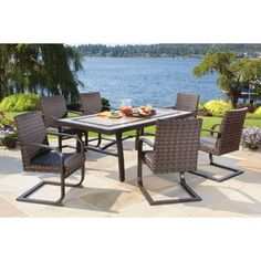 Costco $1500 Santa Ana 7 Piece Resin Wicker Patio Dining Set