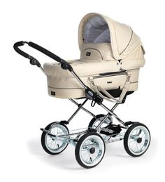 Emma Ljunga-obsessed with this leatherette baby stroller.