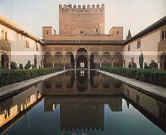 reflecting pool at Alhambra, Spain