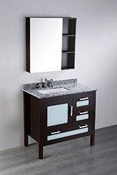 37'' Bosconi SB-251-1 Contemporary Single Vanity #vanities #HomeRemodel #BathroomRemodel #BlondyBathHome #Freestanding