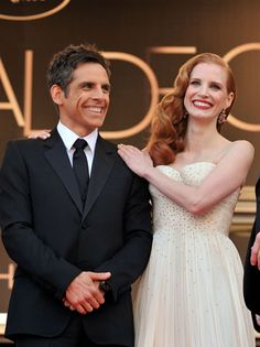 Ben Stiller and Jessica Chastain arrive at the star-studded world premiere of Madagascar 3: Europe's Most Wanted.
