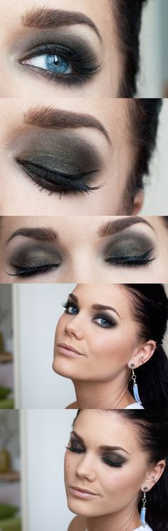 Inspiração make smokey chocolate! (by Linda Hallberg) Love Makeup, Makeup Tips, Beauty Makeup, Makeup Looks, Hair Makeup, Hair Beauty, Grey Makeup, Makeup Tutorials, Linda Hallberg