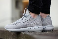 """The adidas Originals Tubular is set to release in a """"Stone"""" colorway, consisting of an overall grey look, resulting in a clean outcome by adidas."""