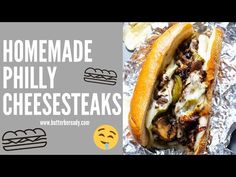 This Philly Cheesesteak recipe is so easy: thinly sliced ribeye steak with gooey provolone cheese, onions, peppers, and mushrooms all on a hoagie roll. Homemade Philly Cheesesteak, Cheesesteak Recipe, Philly Cheesesteaks, Night Dinner Recipes, Dinner Ideas, Best Beef Stew Recipe, Spicy Recipes, Cooking Recipes, Kinds Of Steak