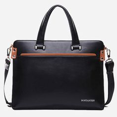 Mens Leather Briefcases Laptop Business Bags for Men Bostanten 10743