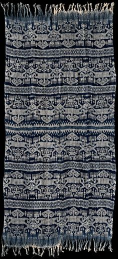 Warp Ikat from West Timor,  Indonesia 1950